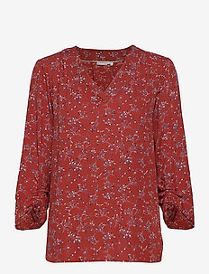 FRLAJUNE 2 Blouse - short-sleeved blouses - barn red mix