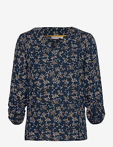 FRLAJUNE 2 Blouse - short-sleeved blouses - dark peacoat mix