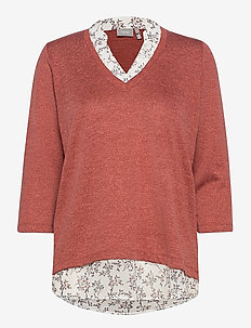 FRLEREXAN 1 Blouse - jumpers - barn red melange