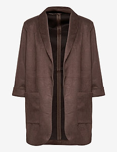 FRMASUEDE 2 Cardigan - blazers - coffee bean