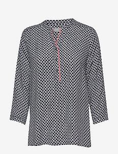 FRIPRETRO 1 Shirt - långärmade blusar - navy blazer mix