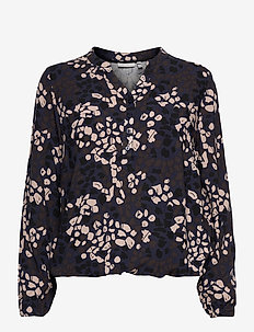FRMACAMPA 1 Shirt - long sleeved blouses - navy blazer mix