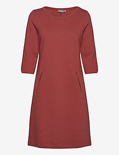 FRZARILL 3 Dress - midi dresses - barn red