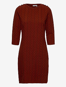 FRMEVAR 1 Dress - midi dresses - burnt henna mix