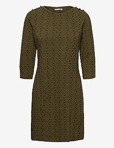 FRMEVAR 1 Dress - midi dresses - dark olive mix
