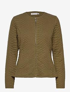 FRMECARDI 1 Cardigan - casual blazers - dark olive