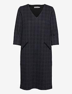 FRMECHECK 2 Dress - midi dresses - navy blazer mix