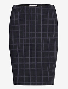 FRMECHECK 4 Skirt - pencil skirts - navy blazer mix
