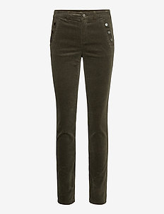 FRMACORD 1 Pants - slim fit trousers - green ink
