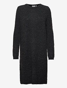 FRMESANDY 3 Dress - knitted dresses - black melange