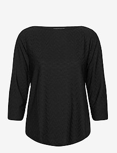 FRMEBANG 1 Blouse - long sleeved blouses - black