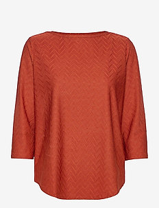 FRMEBANG 1 Blouse - long sleeved blouses - burnt henna