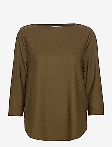 FRMEBANG 1 Blouse - long sleeved blouses - dark olive