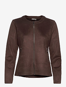 FRMASUEDE 1 Jacket - casual blazers - coffee bean