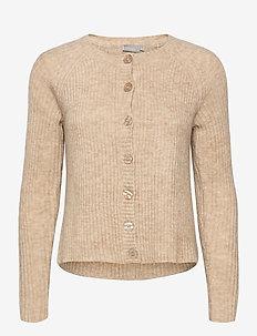 FRMEBLOCK 3 Cardigan - cardigans - beige melange