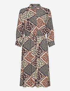 FXSUTRIPE 7 Dress - midi jurken - navy blazer mix