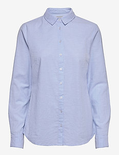 FRZAOXFORD 1 Shirt - long-sleeved shirts - blue chambré