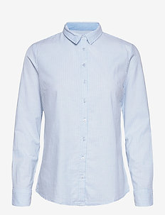 FRZAOXFORD 1 Shirt - long-sleeved shirts - blue chambré stripes