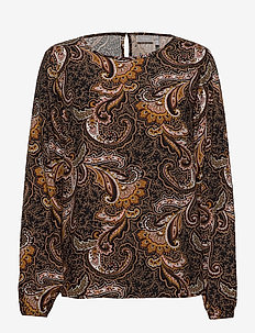 FRMAVIS 4 Blouse - long sleeved blouses - black paisley mix