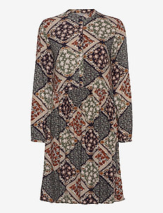 FXSUTRIPE 8 Dress - midi jurken - navy blazer mix