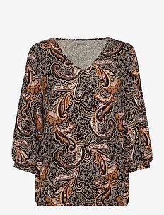 FRMELEO 5 T-shirt - pitkähihaiset puserot - black paisley mix