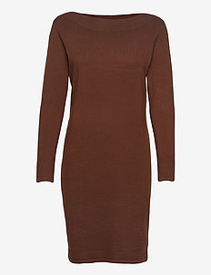 ZUBASIC 131 Dress - knitted dresses - chocolate fondant