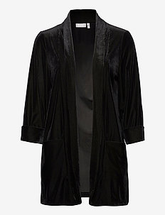 FRNEVELOUR 4 Cardigan - swetry rozpinane - black