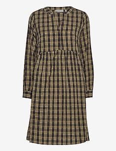 FXTICHECKED 1 Dress - midi jurken - hedge mix