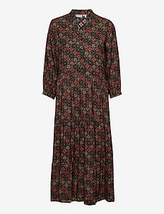 FRMAORI 3 Dress - midi dresses - black mix