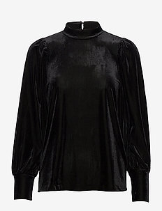 FRNEVELOUR 6 Blouse - long sleeved blouses - black