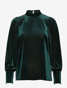 FRNEVELOUR 6 Blouse - long sleeved blouses - ponderosa pine