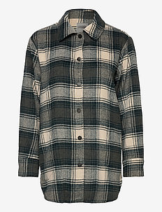 FRMASJACKET Shirt 1 - overshirts - green ink mix