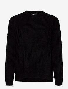 FRLEMERETTA 1 Pullover - trøjer - black melange