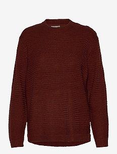 FRLEMERETTA 1 Pullover - trøjer - burnt henna melange