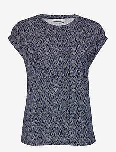 FRPESEEN 1 T-shirt - t-shirts - navy blazer graphic mix
