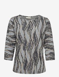 FRPEMISO 1 T-shirt - tops met lange mouwen - navy blazer mix