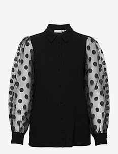 FRNABURN 1 Shirt - long sleeved blouses - black