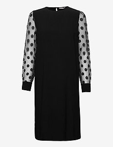 FRNABURN 3 Dress - midi dresses - black