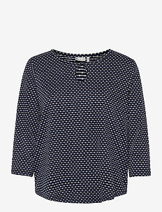 FRVEJACQ 1 Blouse - blouses met lange mouwen - navy blazer mix