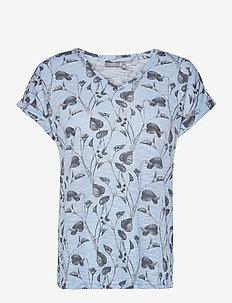 FRVEIREG 1 T-shirt - t-shirts - cashmere blue mix
