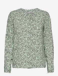 FRVALEAF 3 Blouse - blouses met lange mouwen - aqua foam mix