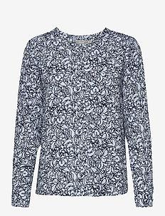 FRVALEAF 3 Blouse - blouses met lange mouwen - cashmere blue mix