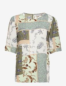 FRVACRINKLE 3 Blouse - blouses met korte mouwen - aqua foam mix