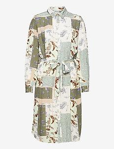 FRVACRINKLE 5 Dress - blousejurken - aqua foam mix