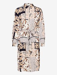 FRVACRINKLE 5 Dress - blousejurken - navy blazer mix
