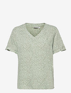 FRVARILLI 2 Blouse - blouses met korte mouwen - lily pad mix