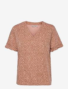 FRVARILLI 2 Blouse - blouses met korte mouwen - misty rose mix