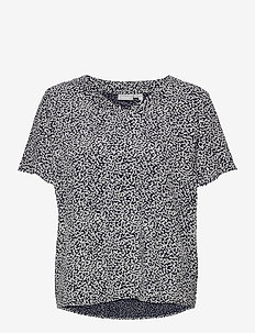 FRVARILLI 2 Blouse - blouses met korte mouwen - navy blazer mix