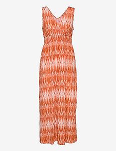 FRAMSELFA 2 Dress - zomerjurken - dusty orange mix