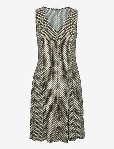 FRAMDOT 3 Dress - zomerjurken - dusty olive graphic mix